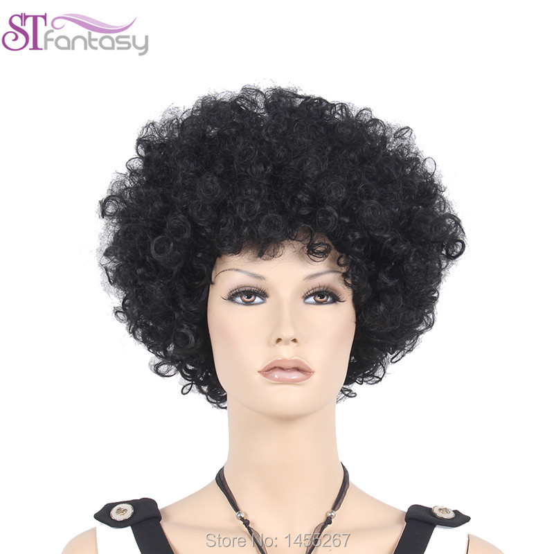 Free Shipping  High Quality  13.5″ Wonderful Black Afro Wigs For America Black Men And Women
