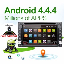 Car Electronic autoradio 2din android 4.4 car dvd player stereo GPS Navigation WIFI+Bluetooth+Radio+1.2G CPU+3G+TV (Option)(China (Mainland))