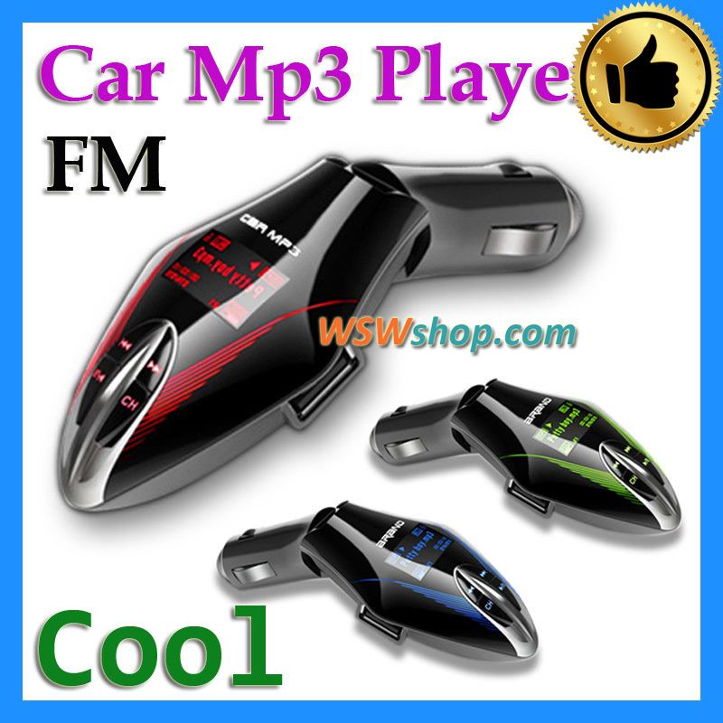 Wirelss FM Transmitter Auto Car Kit Mp3 Player With Remote Control Support Memory Car Flash Disk And Stand As Car Charger(China (Mainland))