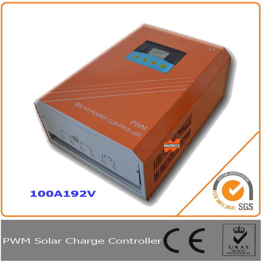 100A 192V PWM Solar Charge Controller Regulator with LCD LED RS232 for Communication<br>