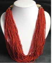 Charming Tibet Mulriple Rows Coral Necklace Fashion Free shipping(China (Mainland))