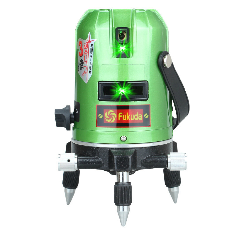 Fukuda Green Laser Level 5 Line 1 Point 360 Rotary Lazer Ek-468GJ lithium-ion battery Cross line - Shanghai Topon-Tools Trading Co.,Ltd store