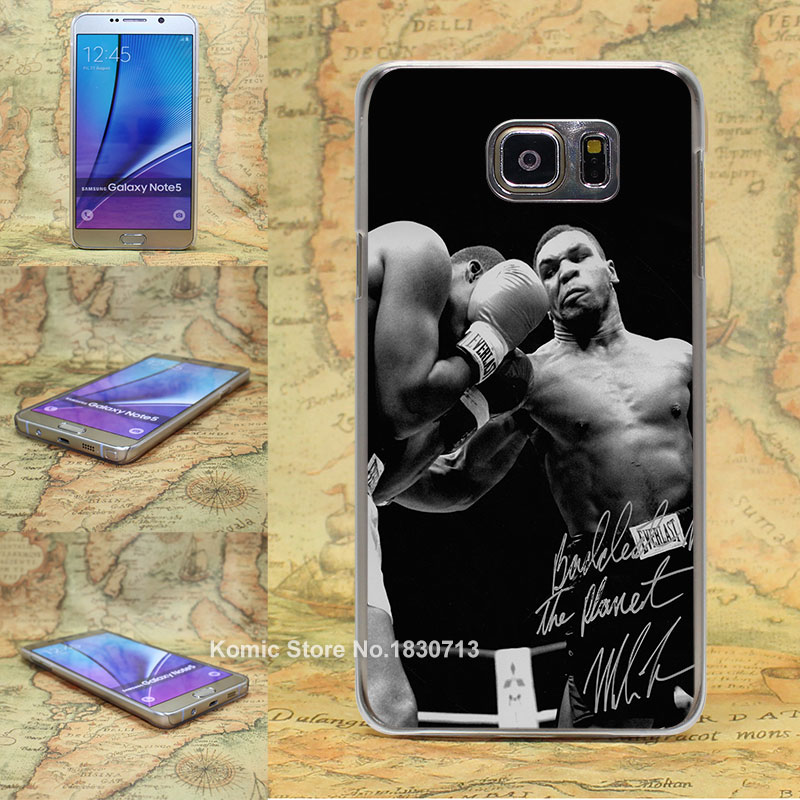 tyson punch ring boxing sports Pattern transparent clear hard Cover Case for Samsung galaxy note 2 3 4 5 s4 mini s6 edge+(China (Mainland))