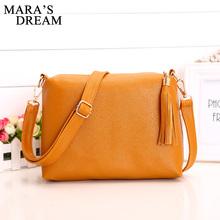 Buy Mara's Dream Popular Handbags Mini PU Messenge Bag Small Diagonal Women One Shoulder Tassel Bags 2017 Hot sale for $4.75 in AliExpress store