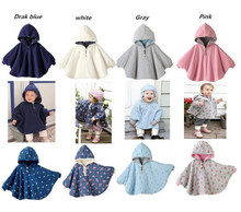 2015 Fashion Combi Baby Coats boys Girl's Smocks Outwear Fleece cloak Jumpers mantle Children's clothing Poncho Cape DD001(China (Mainland))