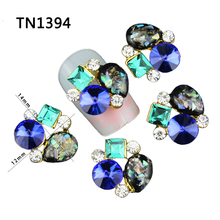 10pcs Glitter For 3d Nail Art Gold  Design Decorations Manicure Crystal Alloy Charms Rhinestones Nails Supplies Jewelry TN1394(China (Mainland))