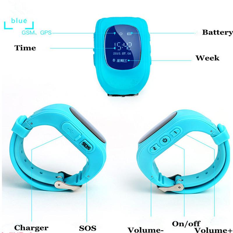 ถูก สีชมพูและสีฟ้าติดตามเด็กนาฬิกาภาษาอังกฤษTalkbackตรวจสอบตำแหน่งGPSป้องกันการสูญหายเด็กดูสมาร์ท