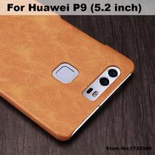 Mofi Brand Huawei P9 Case Cover Luxury PU Leather Back Cover Phone Case For Huawei P9 Back Cover Case (5.2 inch)(China (Mainland))