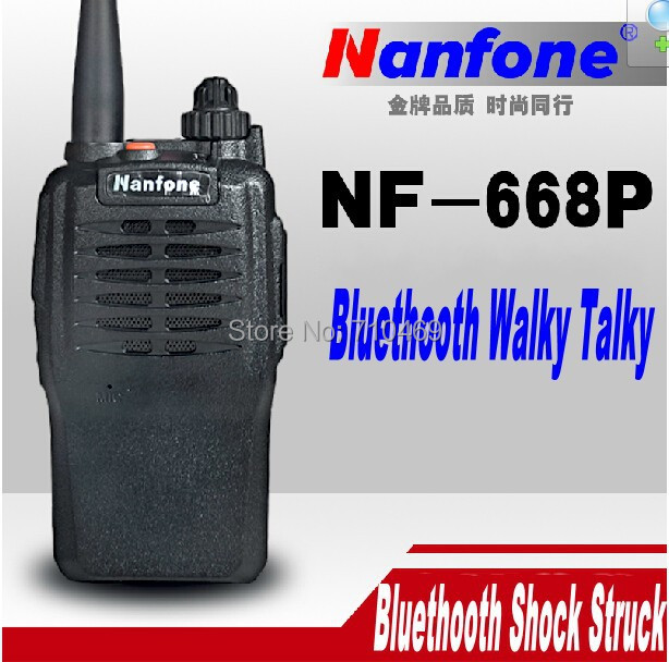 DHL freeship+2014 new Bluetooth handheld ham radio transceiver with 5W power long distance talk range walky talky Nanfong NF-668(China (Mainland))