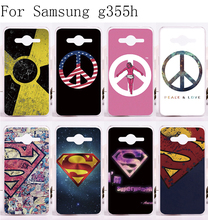 Custom Phone Cases For Samsung Galaxy Core 2 G355h Cases Cover Luxury Superman America Captain Medal Plastic and Silicon Cover