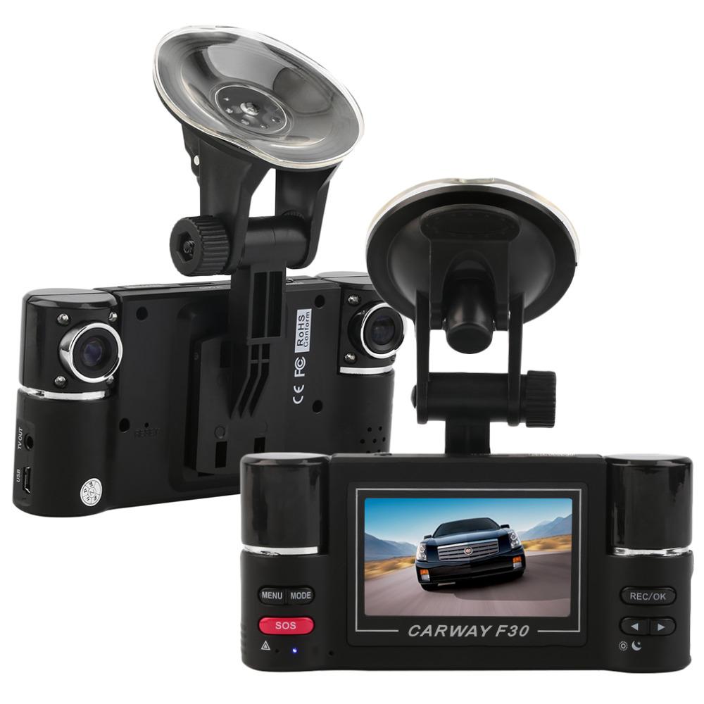 "Здесь можно купить  F30 2.7"" HD Dual Lens Car DVR Car Camera Dual cam Night Vision Vehicle Black Box Driving Camcorder Video Recorder for Parking  Автомобили и Мотоциклы"