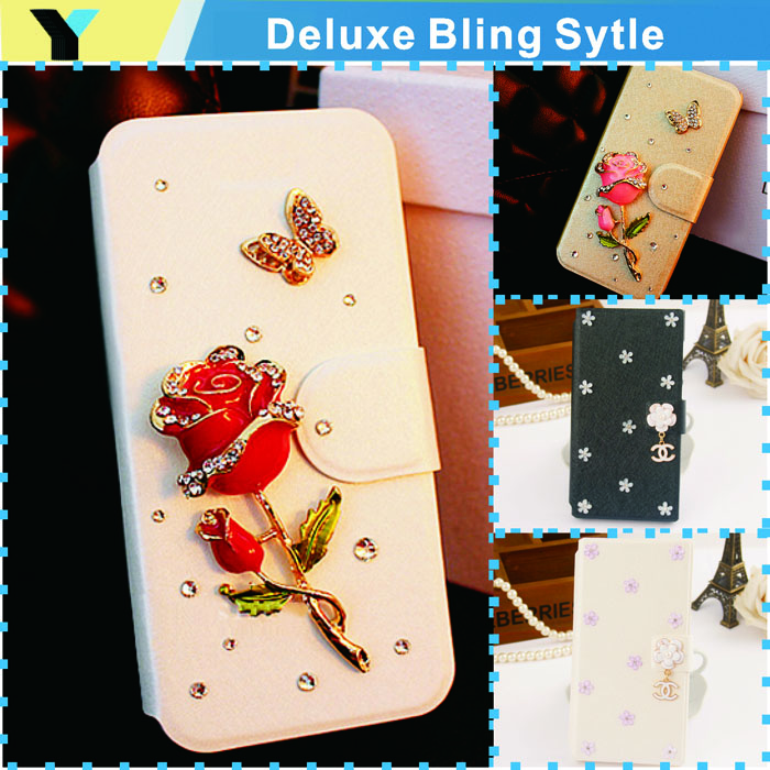 hot Glitter Pu Wallet Luxury case For Samsung Galaxy star pro s7262 s7260 bags Phone Protection Cover drill shell(China (Mainland))
