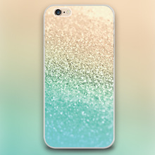 GOLD AQUA sand Design transparent font b case b font cover cell font b mobile b