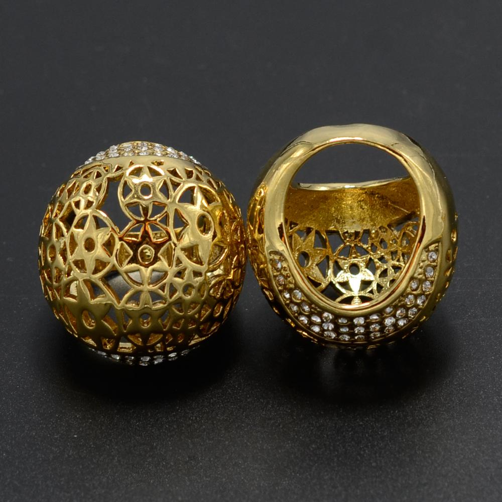 Brilliant Earrings Set 22k Gold Plated Filled Women Ball Earring Jewelry
