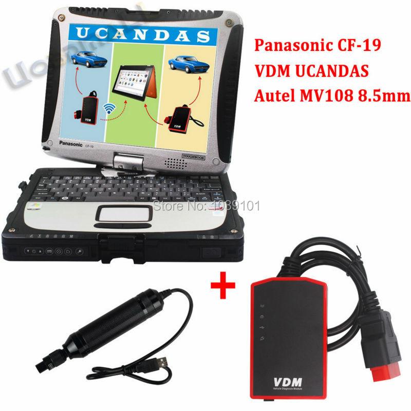 V3.81 VDM UCANDAS WIFI Full System Automotive Diagnostic Tool+ Autel MV108 8.5mm Inspection Endoscope Borescope+Toughbook CF-19<br><br>Aliexpress