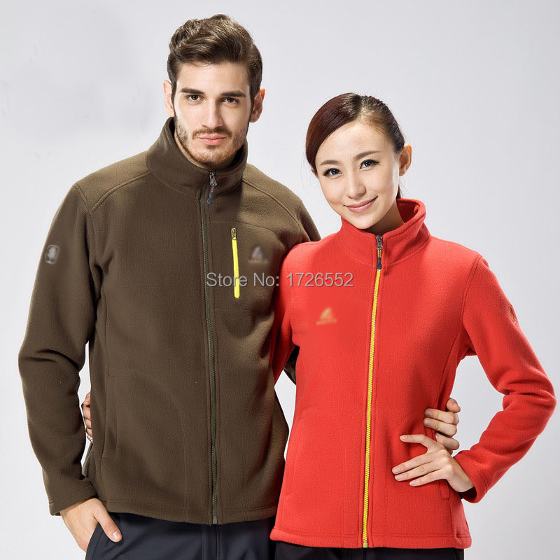 2015 new spring autumn casual sport jacket outdoors man woman fleece jackets thicken warmth couples cardigan windproof outerwear(China (Mainland))