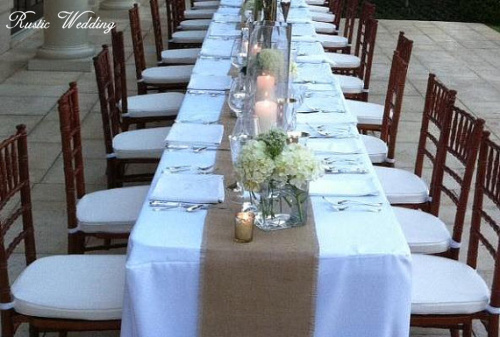 rustic burlap wedding table table runners12 inches wide fall wedding