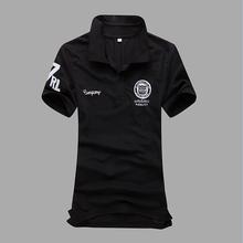 2016 Summer Men Short Sleeve Polo Shirt Buckle Collar Polo Homme Slim Solid Camisas Polo Clothes Plus Size XXXL,3XL CD0080