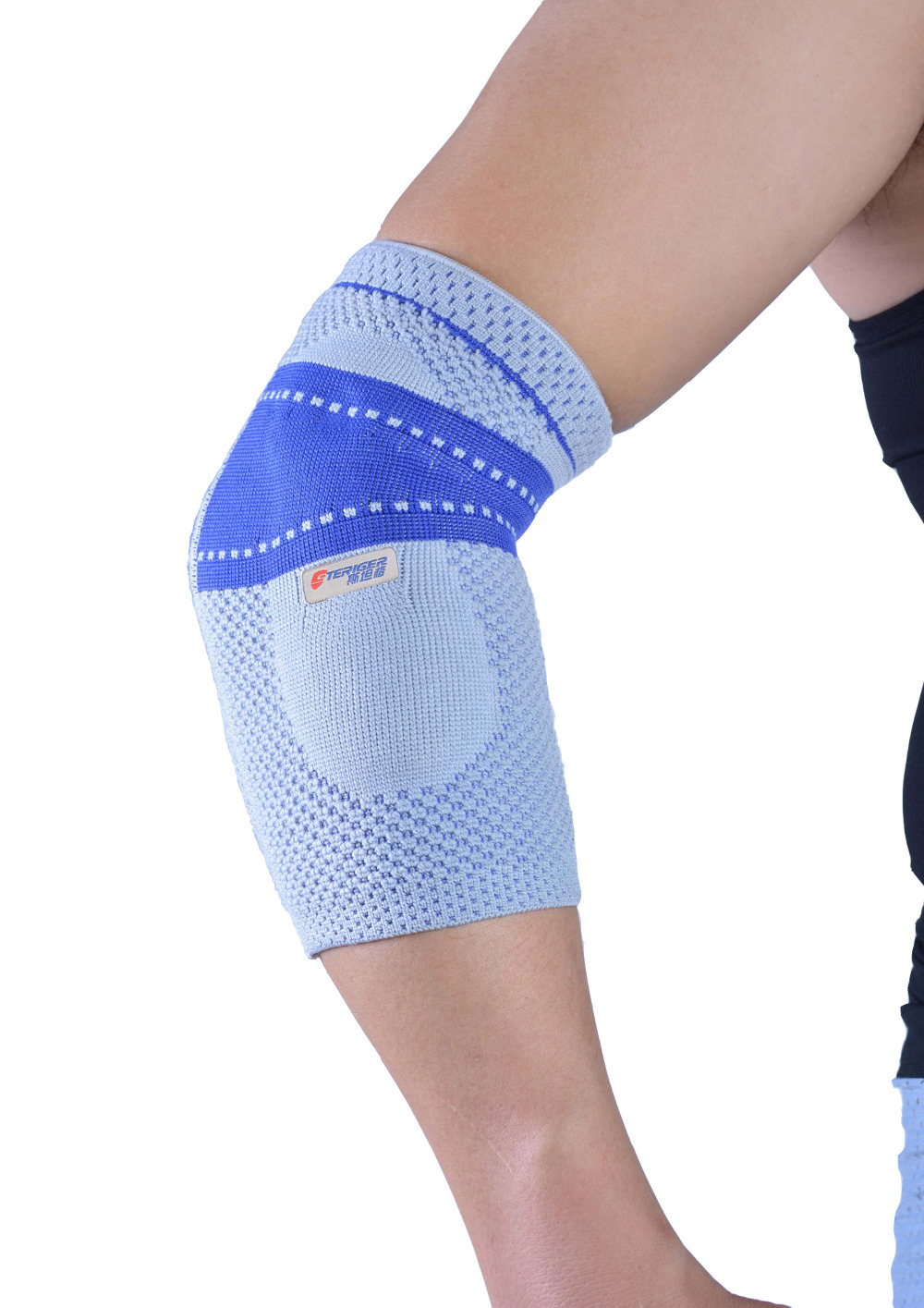 professional knitting elastic breathable volleyball elbow pads tennis elbow support arm sleeve free shipping #elbow6801(China (Mainland))