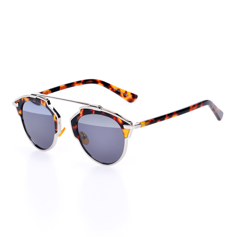 New So Real Sunglasses Vintage Cat Eye Sunglass Women Famous Brand Designer Sunglasses with Box