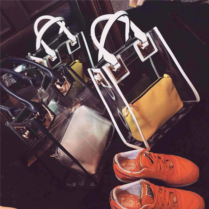 2015 spring fashion brief plastic transparent hardware vertical version of the women's handbag picture package cross-body(China (Mainland))