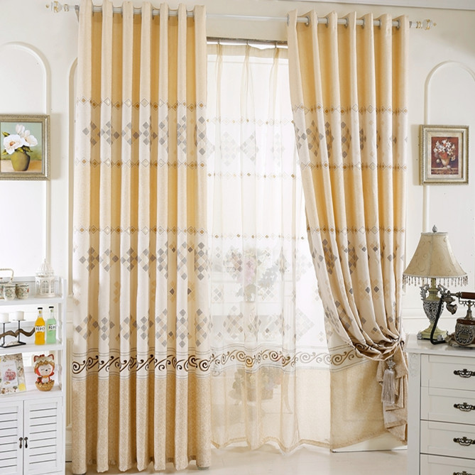European style design customized made modern curtains for - European style curtains for living room ...