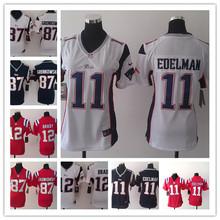 2016 Women Ladies New England Patriots,12 Tom Brady 87 Rob Gronkowski 11 Julian Edelman(China (Mainland))