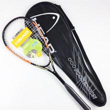 Quality Composite Head Squash Racket With Free Bag Carbon Squash Racquet Orange Blue Squash Racquet Head Squash Racquet Training(China)