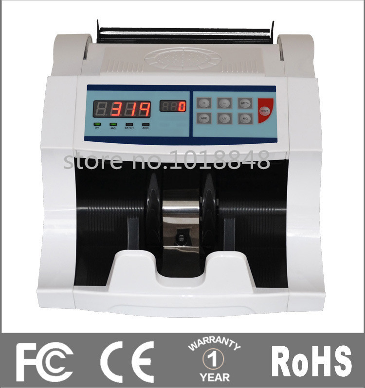 Cash Counting Machine LCD DISPLAY Suitable for EURO&US&GBP&AUD&RUB&THB ETC.Multi-currency Money Counter Bill Counter(China (Mainland))
