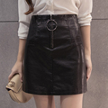 Mini Skirt Women Autumn Winter Slim High Waist A line Package Hip Skirts Womens Fashion Black
