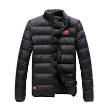 2015 new men winter jacket fashion sports padded winter thickening outdoor men down coat 4 colors flag pattern stitched male