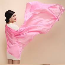 180x90 cm Natural raw materials silk scarf pearl luster soft and elegant feel 17 colors(China (Mainland))