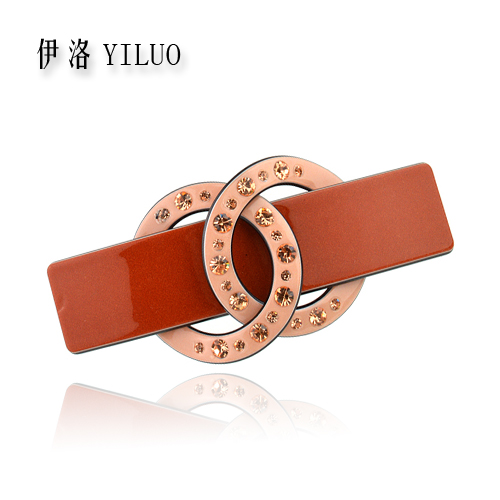 Classical Elegant Crystal Women s Hair Clip Cellulose Acetate Barrette Perfect gift 8 cm Long FREE
