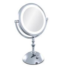 Miroir de maquillage professionnel avec la lumière 8 polegada led compact miroir de maquillage lady 3X Double face loupe espelho de bain miroir(China (Mainland))