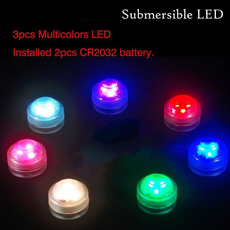 36PCS Home Garden Party Mini LED Light !! Fancy Factory Wholesale RGB MultiColors Color Waterproof Led Tealight Battery Operated(China (Mainland))