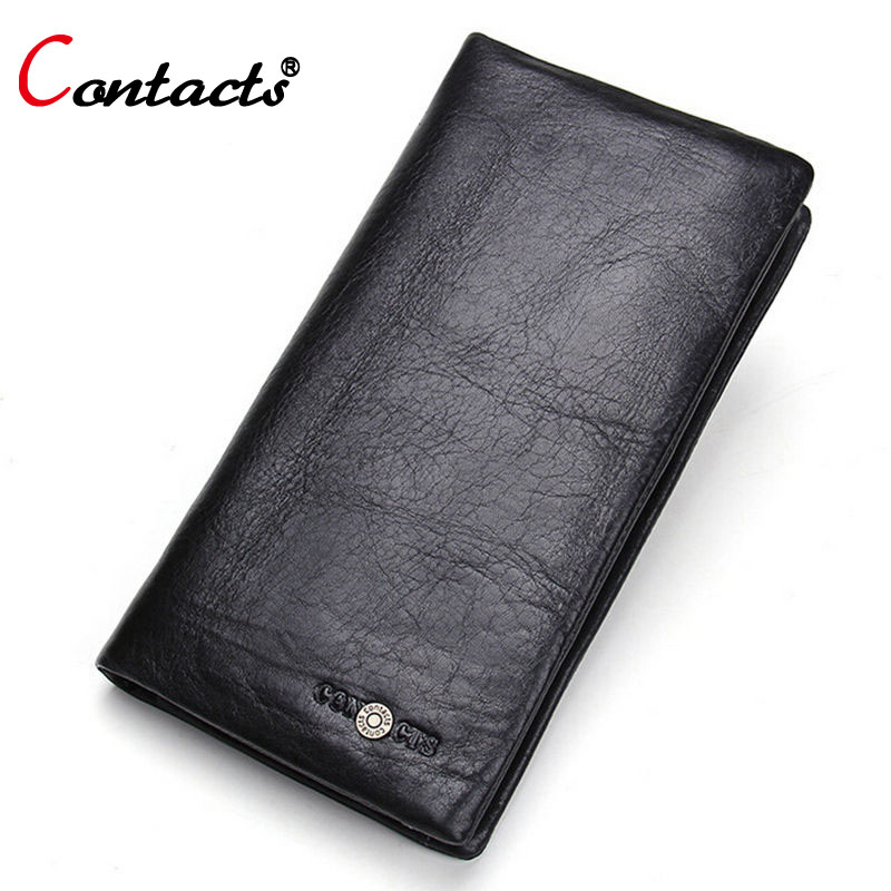 CONTACT'S long men wallets clutches genuine leather purses large capacity wallets classic card holder card holder dollar price(China (Mainland))
