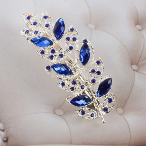 Women Crystal Rhinestone Hairpin Jewelry Fashion Flower Hair Barrette Clip(China (Mainland))