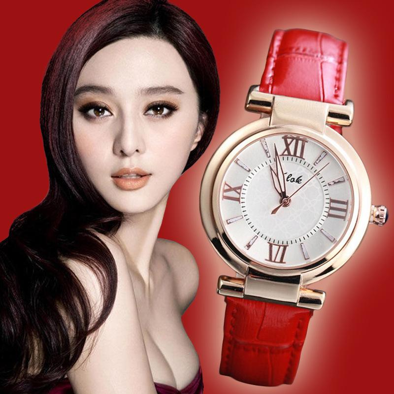 Luxury Brand quartz watches women dress watch rose gold full steel case leather band wristwatches 2015 hot - Di Da store