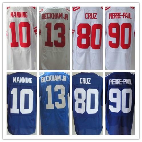 Chất Lượng tốt nhất Jersey Nam Ưu Tú của 10 Eli Manning 13 Odell Beckham Jr 80 Victor Cruz 90 Jason Pierre-Paul 88 Hakeem Nicks jersey(China (Mainland))
