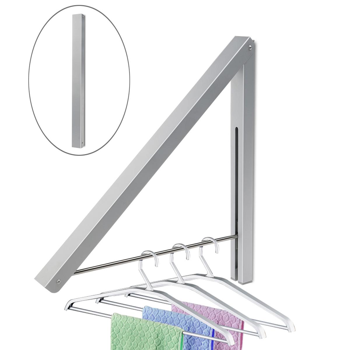WINOMO Alumimum Wall Adjustable Clothes Hanger Rack Bracket for Laundry Organization Closet Storage System (Silver)(China (Mainland))
