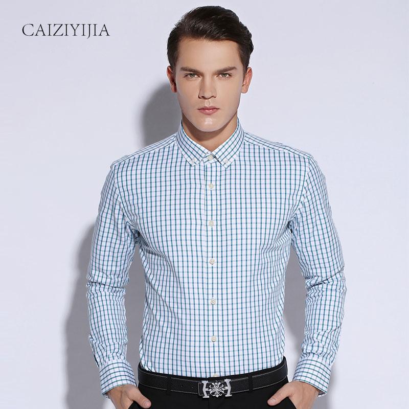 Buy spring summer 2016 fashion mens slim for Men oxford slim fit long sleeve shirt