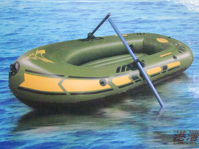 Thickened small number inflatable fishing boat with life for Inflatable fishing boats