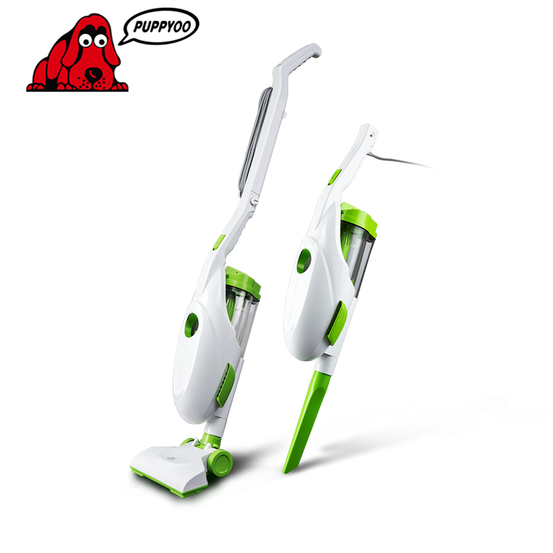 Low Noise Home Rod Handheld Vacuum Cleaner Portable Dust Collector household Aspirator White&Green Color D-520 PUPPYOO()