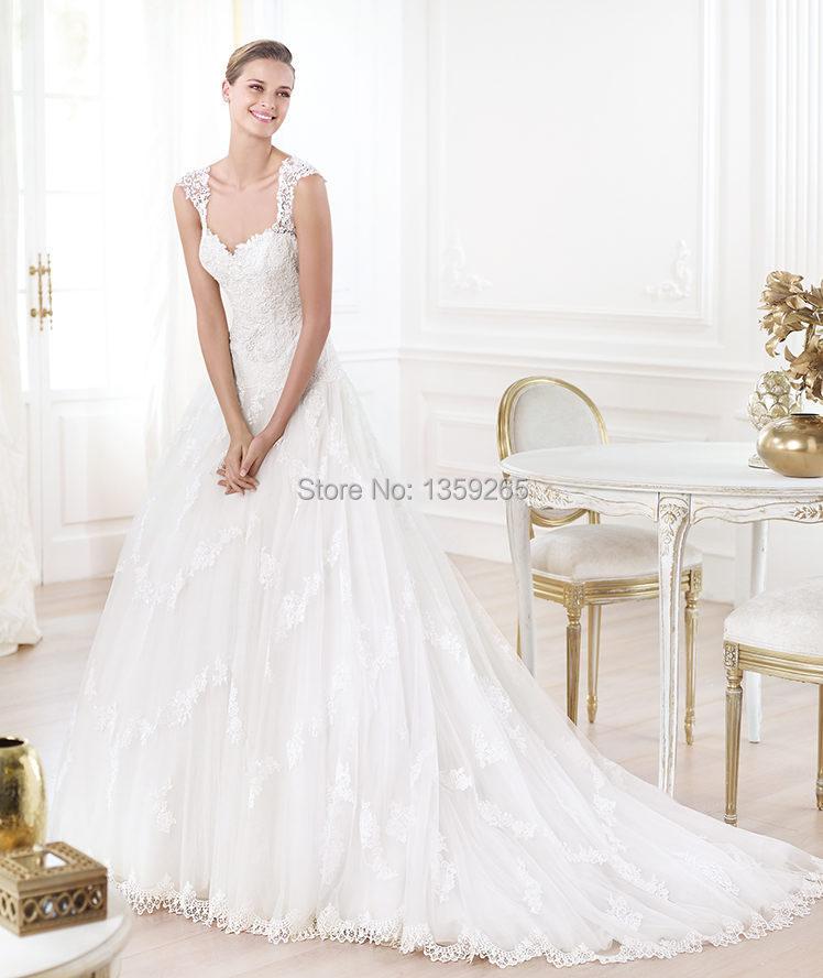 low back 2014 venus wedding dresses with lace appliques
