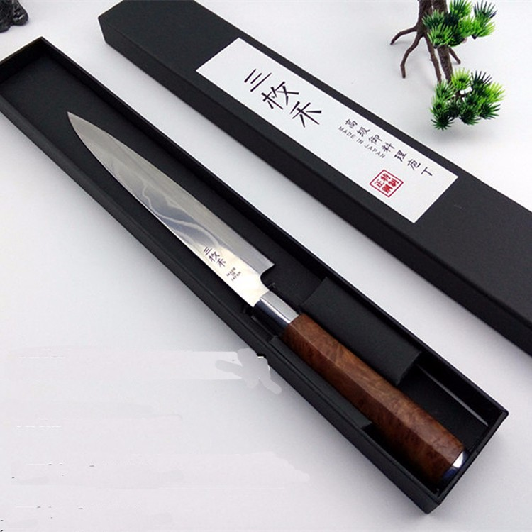 Buy Free Shipping YILang Stainless Steel Kitchen Sashimi Salmon Knife Chef Raw Fish Fillet Knife Sashayed Cooking knives For Gift cheap