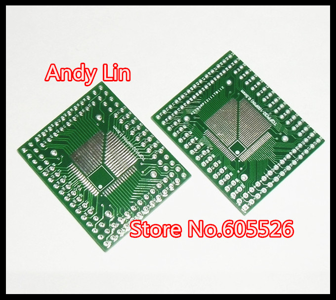 QFP TQFP LQFP TQFP32 TQFP44 TQFP64 TQFP80 TQFP100 0.5MM 0.8MM Pitch IC adapter Socket Adapter plate / PCB(China (Mainland))