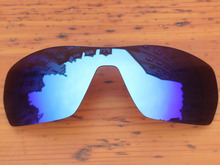 Polycarbonate-Ice Blue Mirror Replacement Lenses For Offshoot Sunglasses Frame 100% UVA & UVB Protection