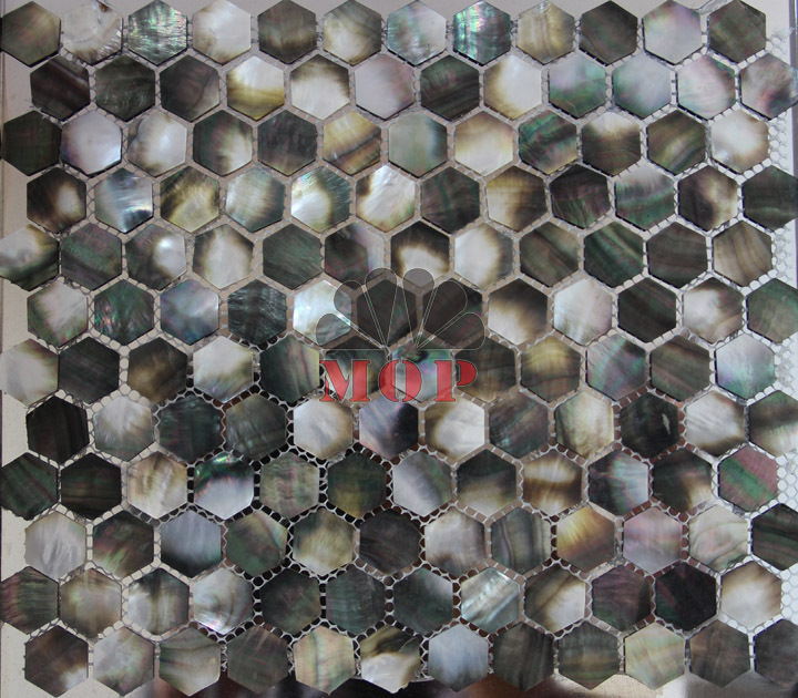 sea shell mosaic mother of pearl  tiles  natural black  grey mesh-joint with seam hexagon original  fashion noble style hot sale<br><br>Aliexpress