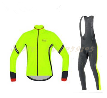 2016 goring Cycling jerseys Fluorescent color Long sleeves in autumn ropa ciclismo mtb bike felt cycling clothing Free shipping(China (Mainland))