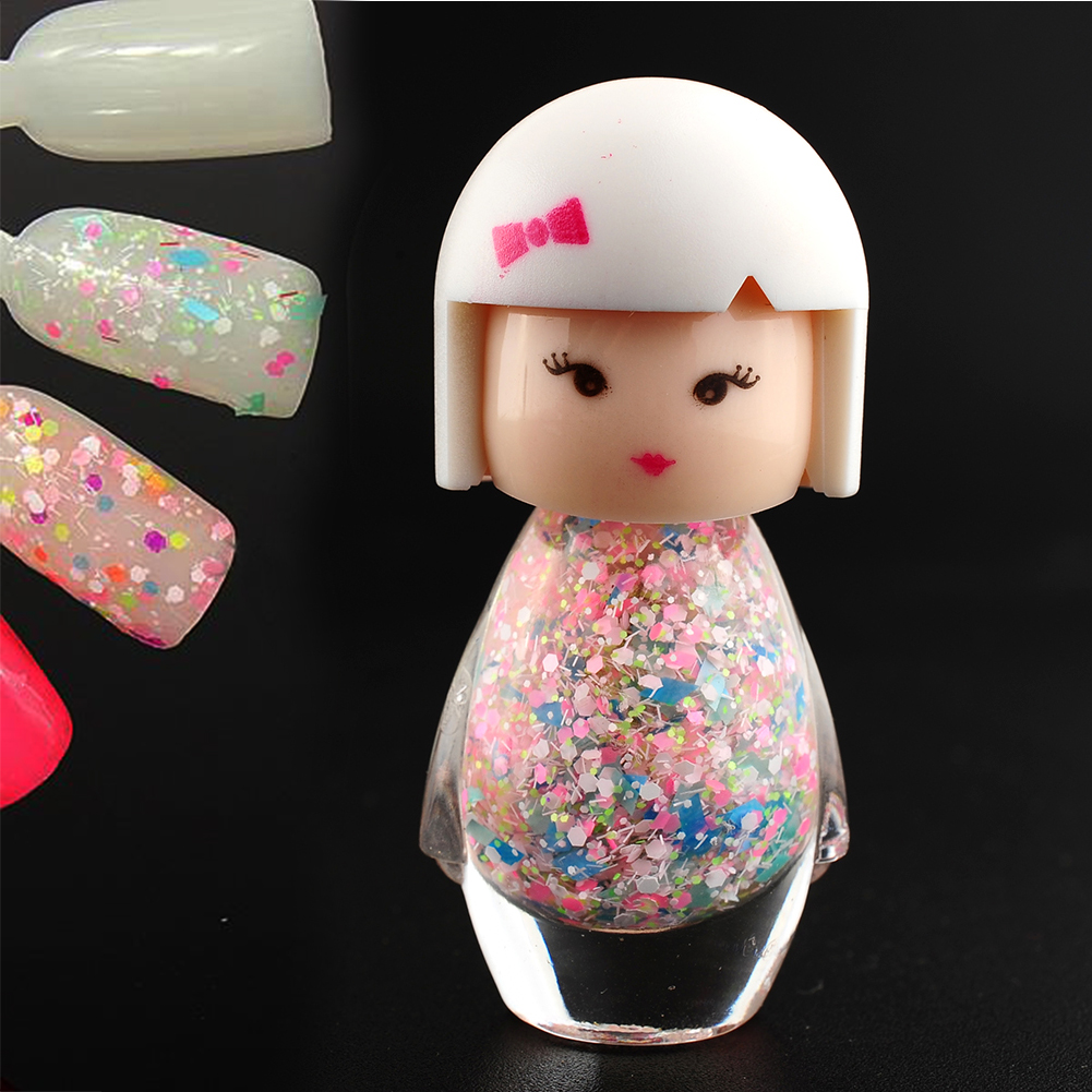 New Fashion Cute Baby Doll Design Sexy Acrylic Nail Art Polish Glitter Pure Color Beauty Nail Decoration